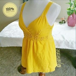Yellow Embroidered Festival Camisole Top by Apt. 9